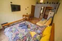 Blue studio apartment